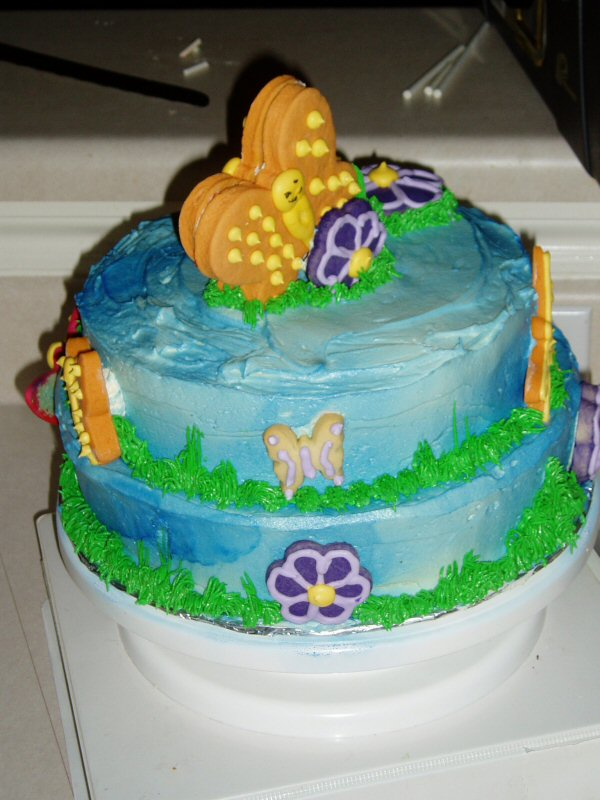 this cake was for a baby shower using the baby 39 s bedding and a cake